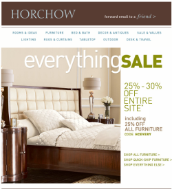 Horchow Coupon - 25% OFF FURNITURE & 25%-30% off everything else